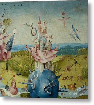 Detail Of Central Panel From  Metal Print by Hieronymus Bosch