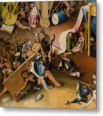 Detail Of Right Panel Showing Hell  The Garden Of Earthly Delights Metal Print