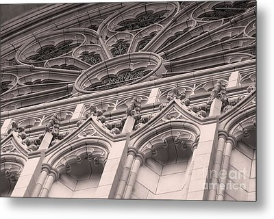 Details Of The National Cathedral Metal Print