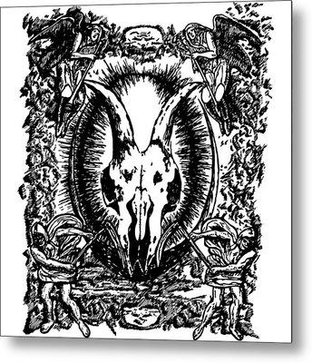 Deth Metal Metal Print by Karl Addison