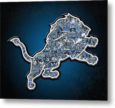 Detroit Lions Metal Print by Fairchild Art Studio