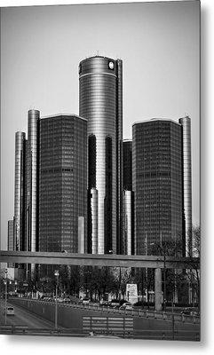 Detroit Renaissance Center General Motors Gm World Headquarters Metal Print by Ryan Dean