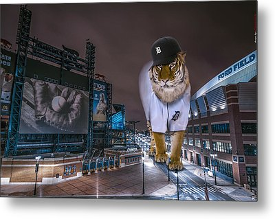Detroit Tigers At  Comerica Park Metal Print