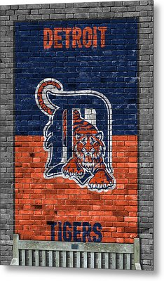 Detroit Tigers Brick Wall Metal Print by Joe Hamilton