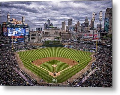 Detroit Tigers Comerica Park 4837 Metal Print