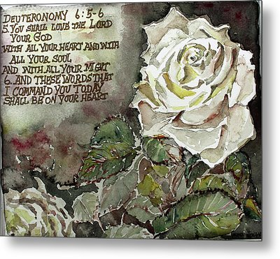 Metal Print featuring the painting Deuteronomy 6 by Mindy Newman