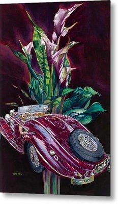 Deutschland Uber Lilies Metal Print by Mike Hill