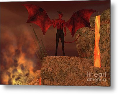 Devil Creature In Hell Metal Print by Corey Ford