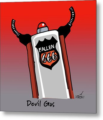 Devil Gas Metal Print