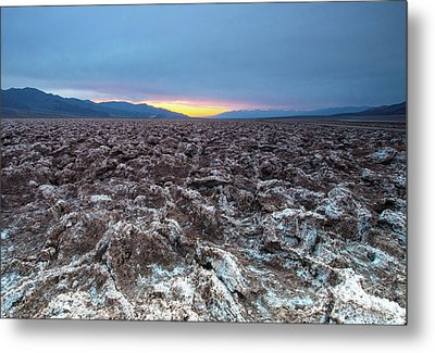 Metal Print featuring the photograph Devil's Golf Course  by Catherine Lau