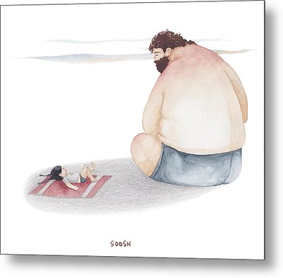Devoted Father Metal Print
