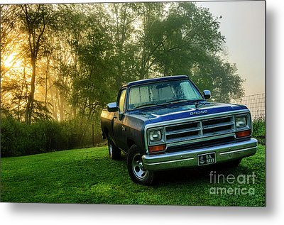 Dew-covered Dodge Ram 100 Metal Print