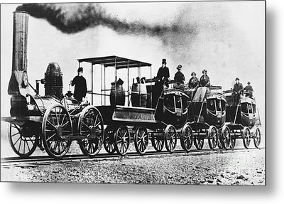 Dewitt Clinton Locomotive Metal Print by Omikron