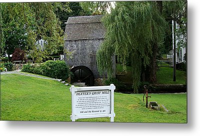 Metal Print featuring the painting Dexter's Grist Mill by Rod Jellison