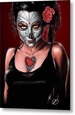 Dia De Los Muertos The Vapors Metal Print by Pete Tapang