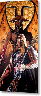 Diabolus In Musica  Metal Print by Al  Molina