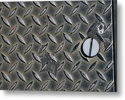 Diagonal Tred On Metal Cover Metal Print by Bernice Williams