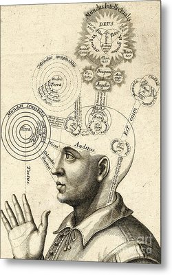 Diagram Of Human Thought And The Four Senses Metal Print by European School