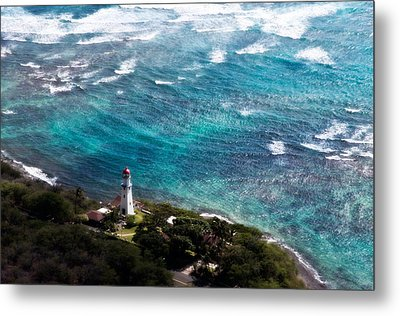 Diamond Head Lighthouse Metal Print