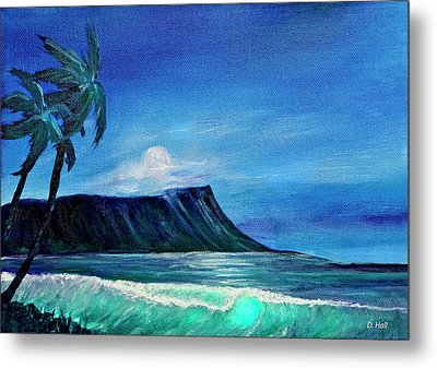 Diamond Head Moonscape #371 Metal Print by Donald k Hall