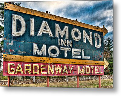 Diamond Inn Motel Sign Metal Print by Robert  FERD Frank
