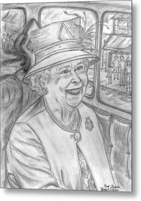 Metal Print featuring the drawing Diamond Jubilee by Teresa White