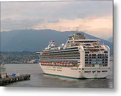Diamond Princess Leaving Vancouver British Columbia Canada Metal Print by Christine Till