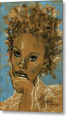 Metal Print featuring the drawing Diamond's Daughter by P J Lewis