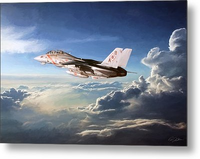 Diamonds In The Sky Metal Print by Peter Chilelli