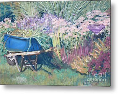 Metal Print featuring the pastel Diana's Garden by Terri Thompson
