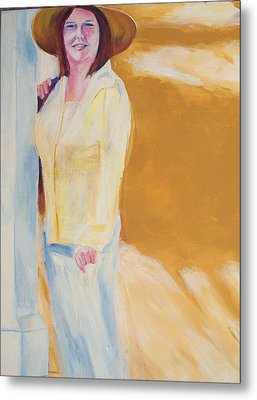 Metal Print featuring the painting Diane by Eric  Schiabor