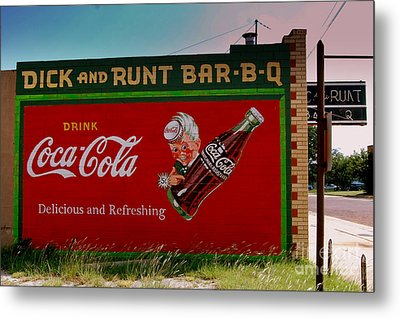 Dick And Runt Bbq Metal Print