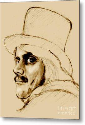 Dickens Character Metal Print by Elinor Mavor