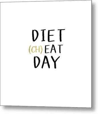 Diet Cheat Day- Art By Linda Woods Metal Print