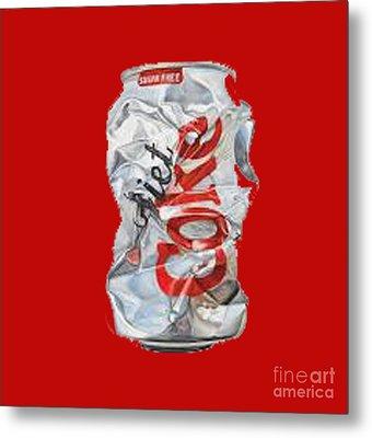Diet Coke T-shirt Metal Print by Herb Strobino