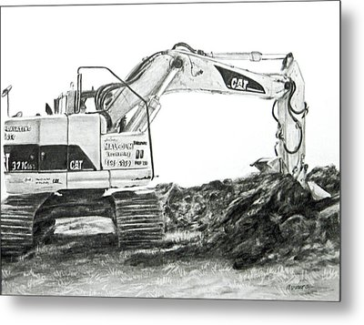 Metal Print featuring the drawing Dig by Meagan  Visser