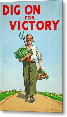 Dig On For Victory Metal Print by English School