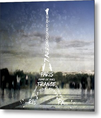 Digital-art Paris Eiffel Tower No.4 Metal Print