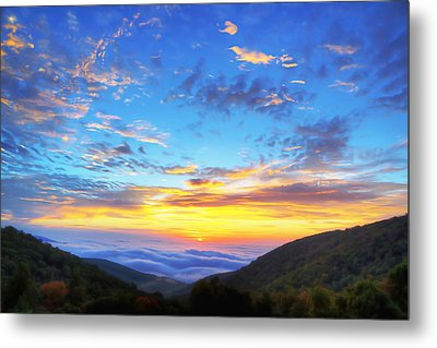 Digital Liquid - Good Morning Virginia Metal Print