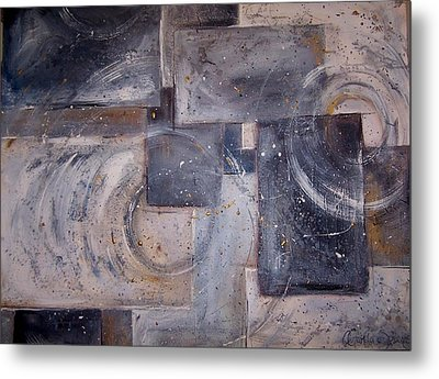 Dimensional Disarray Commissioned Sold Metal Print by Amanda  Sanford