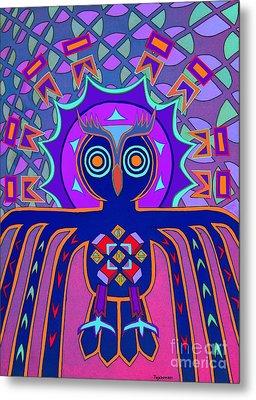 Dimensional Owl Metal Print by Ed Tajchman