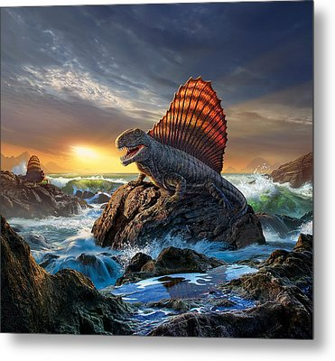 Dimetrodon Metal Print by Jerry LoFaro