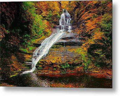 Dingmans Falls In Autumn 1 Metal Print by Raymond Salani III