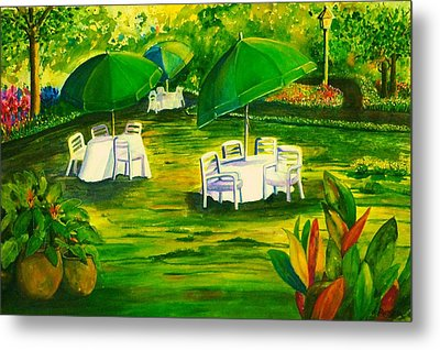 Dining In The Park Metal Print