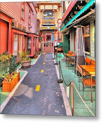 Metal Print featuring the photograph Dink's Taxi Bar Harbor by Debbie Stahre