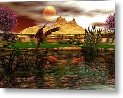 Dinner Metal Print by Claude McCoy