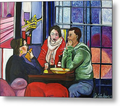 Metal Print featuring the painting Dinner In Dam by Patricia Arroyo