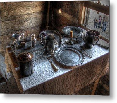Dinner Is Served Metal Print by Jane Linders