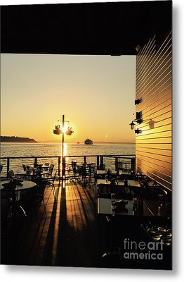 Dinner On The Water Metal Print