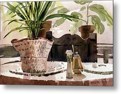 Dinning Room Table Metal Print by Donald Maier